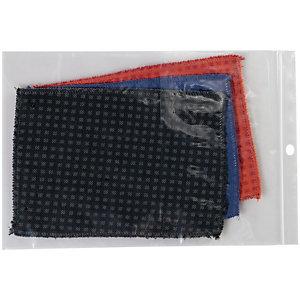 Staples Buste richiudibili in polietilene Trasparenti 270 x 380 mm Confezione da 100