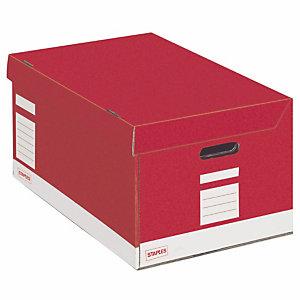 Staples Caisse archives Premium - L.54 x P.36 x H.26 cm - Rouge