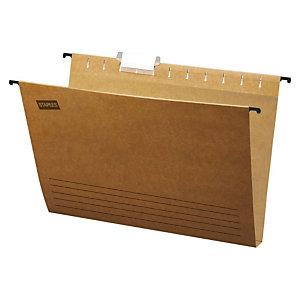 Staples Carpeta colgante para cajón A4 lomo 30 mm Kraft