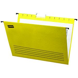 Staples Carpeta colgante para cajón A4 lomo V amarilla
