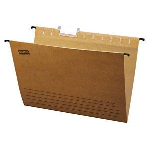Staples Carpeta colgante para cajón A4 lomo V Kraft