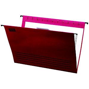 Staples Carpeta colgante para cajón A4 lomo V roja