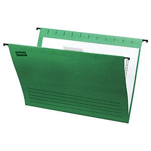 Staples Carpeta colgante para cajón A4 lomo V verde