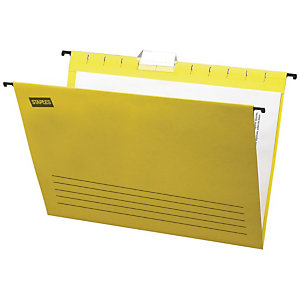 Staples Carpeta colgante para cajón Folio lomo V amarilla