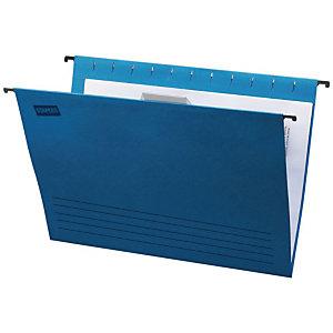 Staples Carpeta colgante para cajón Folio lomo V azul
