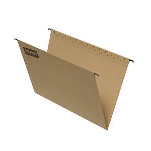 Staples Carpeta colgante para cajón Folio lomo V Kraft