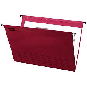 Staples Carpeta colgante para cajón Folio lomo V roja