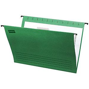 Staples Carpeta colgante para cajón Folio lomo V verde