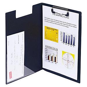Staples Carpeta con pinza portapapeles, A4, cartón rígido forrado en PVC, negro