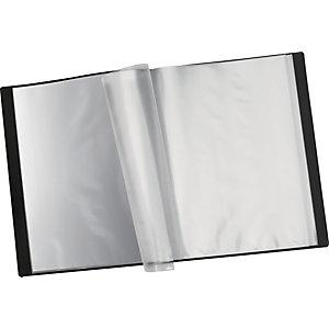 Staples Carpeta de fundas A4, 12 fundas, portada personalizable, cubierta flexible, negro