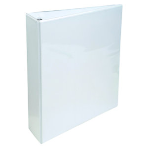 Staples Carpeta personalizable canguro de 2 anillas de 20 mm A5 Maxi lomo 40 mm de cartón plastificado blanco
