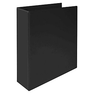 Staples Carpeta personalizable canguro de 2 anillas de 25 mm A5 lomo 35 mm de cartón plastificado negro