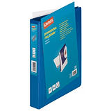 Staples Carpeta personalizable canguro de 4 anillas de 25 mm A4 Maxi lomo 42 mm de cartón plastificado azul