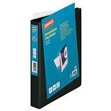 Staples Carpeta personalizable canguro de 4 anillas de 25 mm A4 Maxi lomo 45 mm de cartón plastificado negro