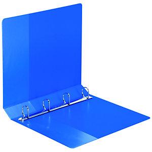 Staples Carpeta personalizable canguro de 4 anillas de 60 mm A4 Maxi lomo 86 mm de cartón plastificado azul