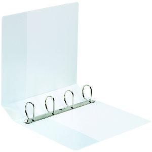 Staples Carpeta de presentación con anillas tipo D, A4 Maxi, ancho del lomo de 74 mm, polipropileno, blanco