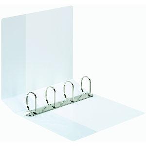 Staples Carpeta de presentación con anillas tipo D, A4 Maxi, ancho del lomo de 92 mm, polipropileno, blanco