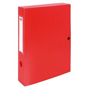 Staples Carpeta de proyectos, A4, polipropileno, 900 hojas, lomo 100 mm, rojo