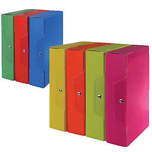 Staples Cartelle portaprogetti - Colore verde acido - Dorso 12 cm (confezione 5 pezzi)