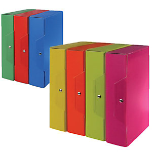 Staples Cartelle portaprogetti - Colore verde acido - Dorso 8 cm (confezione 5 pezzi)