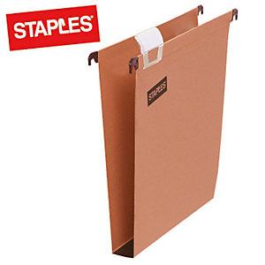 Staples Cartelle sospese per cassetti - Interasse 33 cm - Fondo U - F.to cm 30,5 x 24,5 (confezione 50 pezzi)