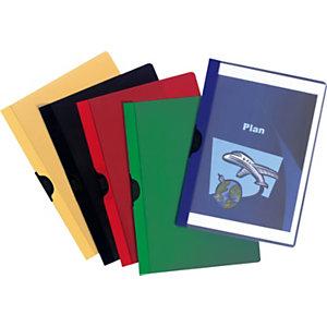Staples Cartelline in PVC con fermafogli, Capacità 60 fogli, Nero (confezione 25 pezzi)