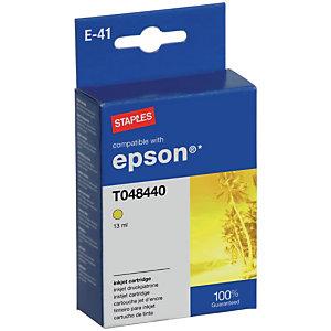 Staples Cartuccia inkjet compatibile con Epson T048440, 7396681, Giallo, Pacco singolo