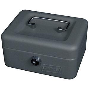 Staples Cassetta portavalori - Dimensioni (l x p x h) cm 15 x 11,5 x 7,5 -  Colore grigio