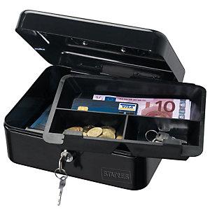 Staples Cassetta portavalori - Dimensioni (l x p x h) cm 15 x 11,5 x 7,5 -  Colore nero