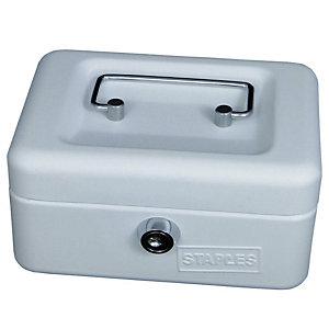 Staples Cassetta portavalori - Dimensioni (l x p x h) cm 30 x 24 x 9 -  Colore bianco