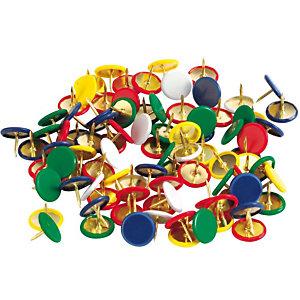 Staples Chinchetas plastificadas de colores