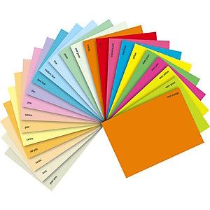 Staples Coloured Paper Papel de Colores para Faxes, Fotocopiadoras, Impresoras Láser e Impresoras de Inyección de Tinta Naranja A4 80 g/m²