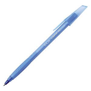 Staples Comfort Stic Penna a sfera Stick, Punta media, Fusto blu con grip, Inchiostro blu