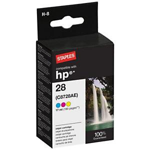 Staples Compatibile HP 28 Cartuccia inkjet a tre colori