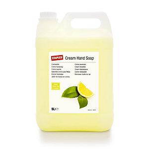 Staples Crema lavamani Nutriente Tè verde & Limone, Colore Verde, Tanica 5 l