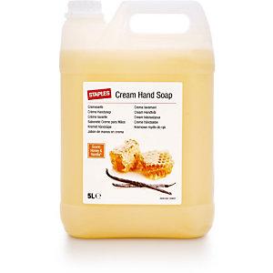 Staples Crema lavamani Nutriente Vaniglia & Miele, Colore Giallo, Tanica 5 l