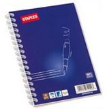 Staples Cuaderno, A6, 100 hojas, rayado, cubierta blanda cartulina, azul