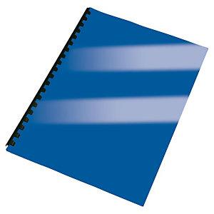 Staples Cubiertas de encuadernación, A4, cartulina rígida, 250 g/m², azul brillante