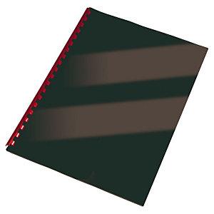 Staples Cubiertas de encuadernación, A4, cartulina rígida, 250 g/m², negro brillante