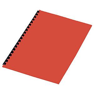 Staples Cubiertas de encuadernación, A4, cartulina rígida, 250g/m², rojo