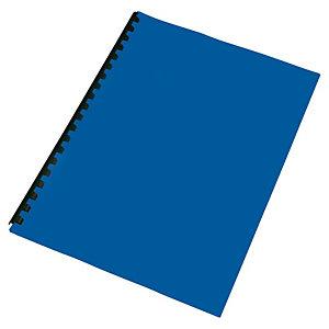 Staples Cubiertas de encuadernación, A4, PVC, 180 micras, azul