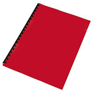 Staples Cubiertas de encuadernación, A4, PVC, 180 micras, rojo