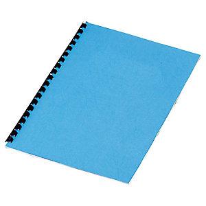 Staples Cubiertas de encuadernación A4 símil cuero 250 micras azul 25 unid