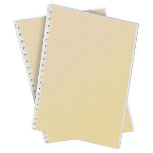 Staples Cubiertas de encuadernación A4 símil cuero 250 micras marfil 100 unid