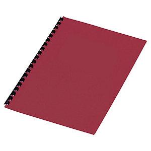 Staples Cubiertas de encuadernación A4 símil cuero 250 micras rojo 100 unid