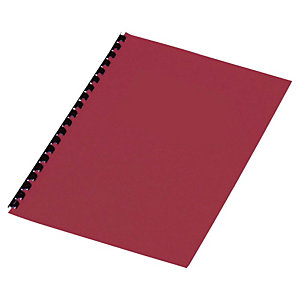 Staples Cubiertas de encuadernación A4 símil cuero 250 micras rojo 25 unid