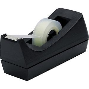 Staples Dispensador de cinta ejecutivo, base antideslizante con peso, centro de 25 mm, plata y negro
