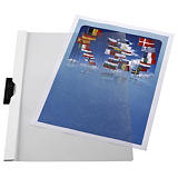 Staples Dossier de pinza, A4, PVC, 30 hojas, blanco