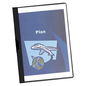 Staples Dossier de pinza, A4, PVC, 60 hojas, negro