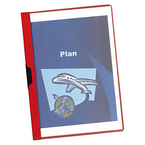 Staples Dossier de pinza, A4, PVC, 60 hojas, rojo